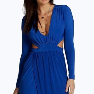 Blue tulip hem dress